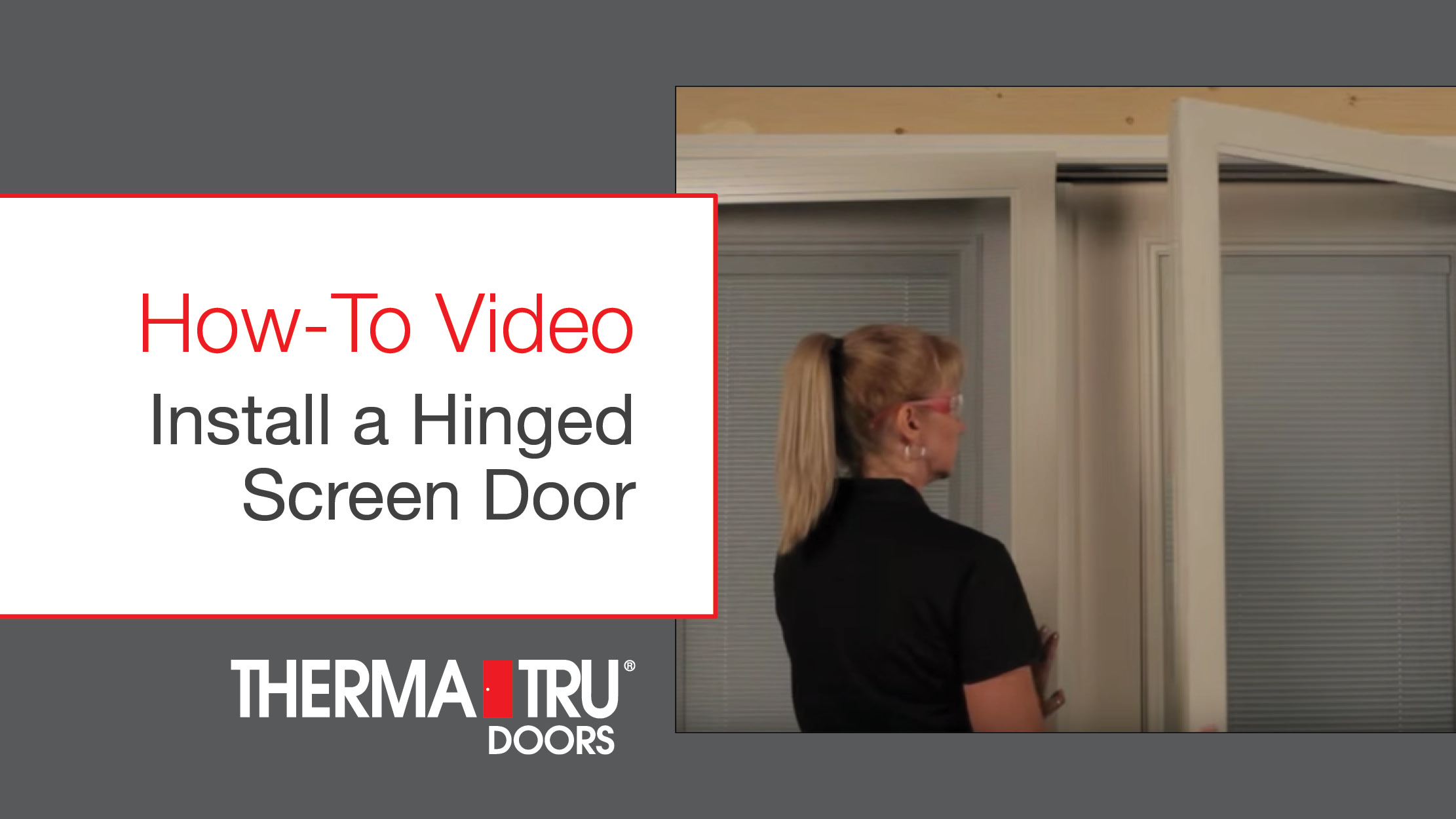 Video Gallery Therma Tru Doors