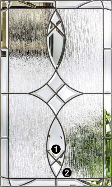 Blackstone 174 Decorative Amp Specialty Glass Therma Tru Doors