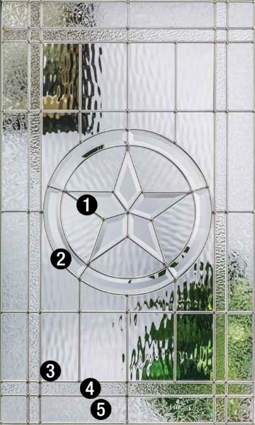 Texas Star Decorative Specialty Glass Therma Tru Doors