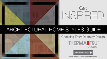doors by design web banner ad horizontal architectural home styles for professionals thermatru doors
