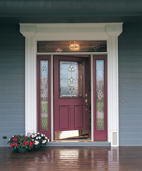 Provincial Decorative Specialty Glass Therma Tru Doors